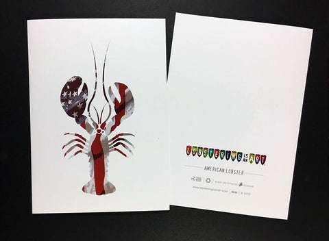 """American Lobster"" Note Cards"