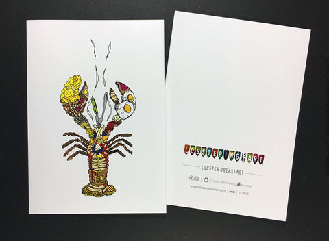 """Lobster Breakfast"" Note Cards"