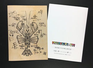 """Da Vinci's Flying Lobster"" Note Cards"