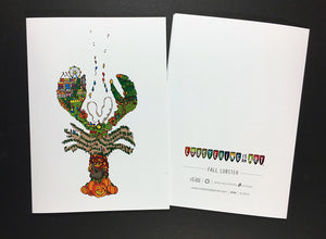 """Fall Lobster"" Note Cards"