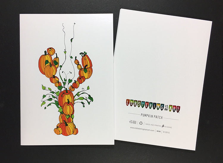 """Pumpkin Patch"" Note Cards"