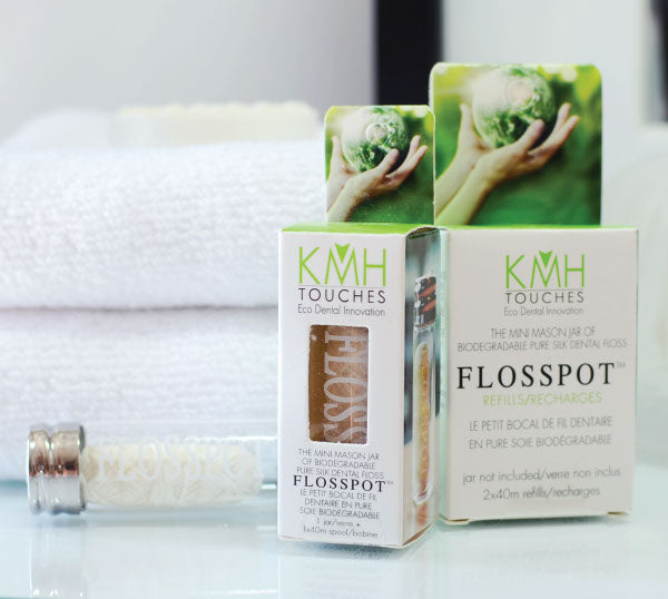 Biodegradable Refillable Silk Dental Floss
