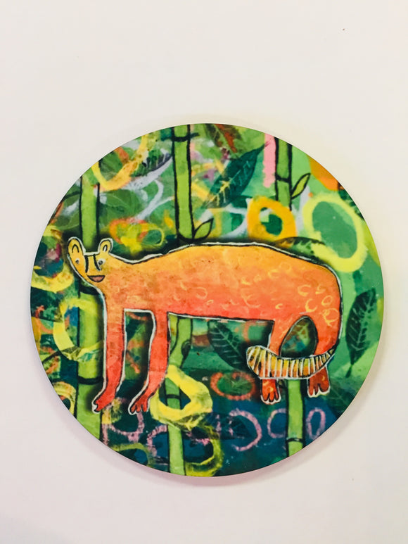 Jungle Cat Round Coaster