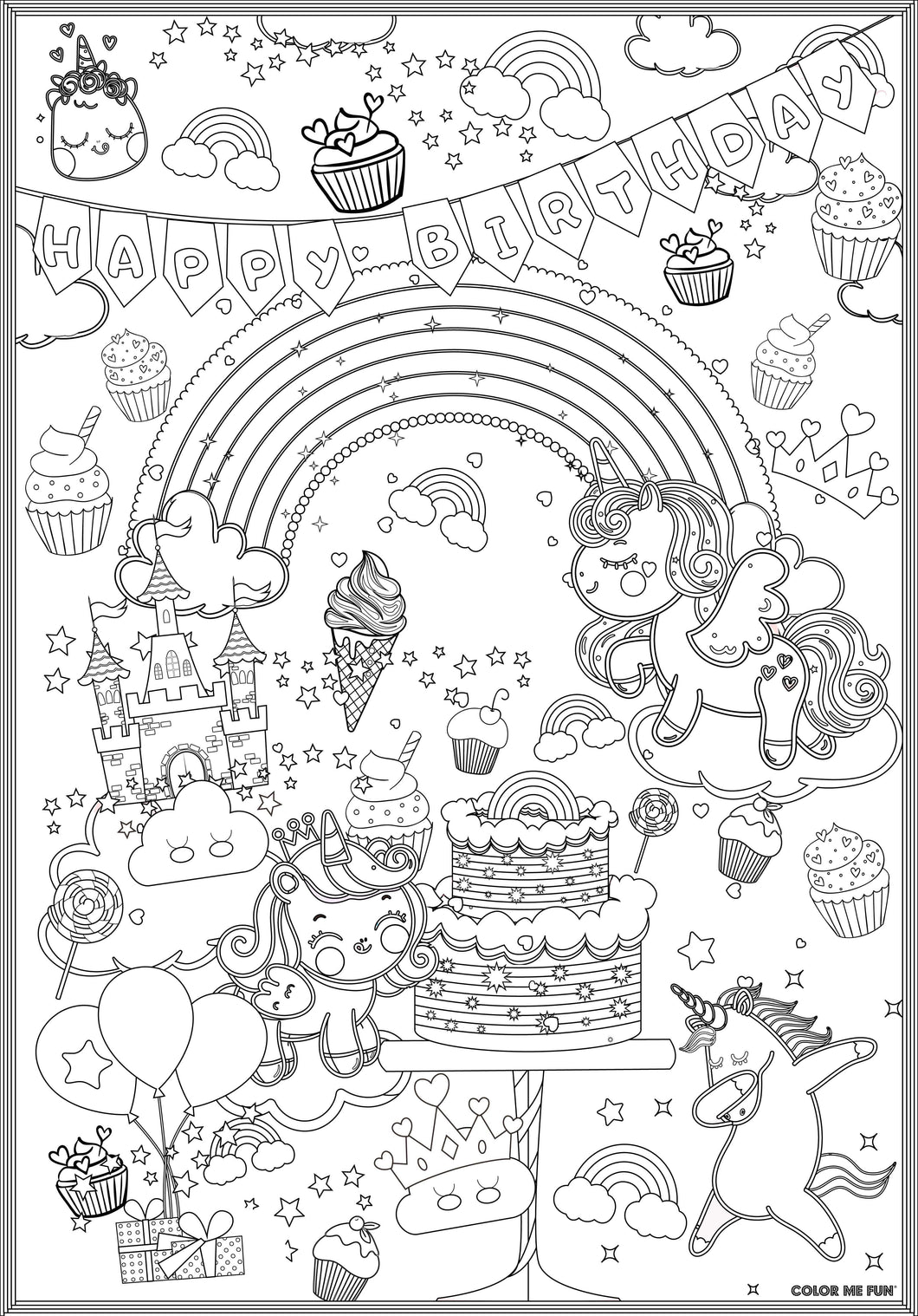 ColorMeFun UNICORN BIRTHDAY