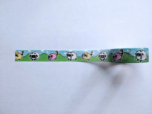 Pokemon-Inspired Wooloo and Mareep Washi Tape