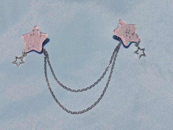 Dreamy Pastel Starry 3-Way Clip in Lavender