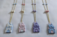 Glittery Castle Necklace