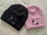 Spooky Bat Black Cat Halloween Beanies