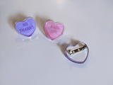 Girly Gang Candy Heart Pins