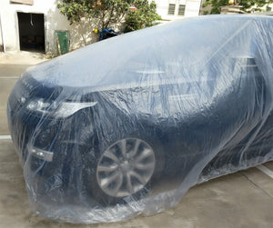 Car Disposable Car Cover Car Cover PE Transparent Plastic Dustproof Waterproof Winter Snow and Frozen General Car Clothing