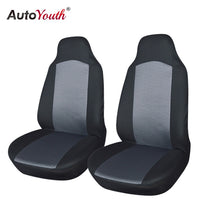 Load image into Gallery viewer, AUTOYOUTH Classic Front Car Seat Covers 2 PCS Black with Gray Universal Fit for lada Honda Toyota Most Auto Interior Car Styling