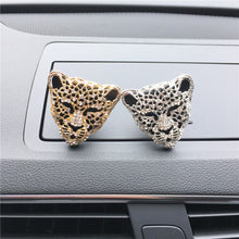 Load image into Gallery viewer, Fashion Leopard Head Outlet Vent Perfume Clip to Remove Odor Car Interior Creative Ornaments Car Perfume Air Freshener
