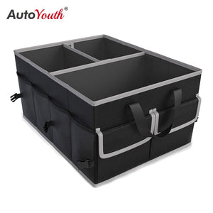 AUTOYOUTH Car Trunk Finishing Bag Multifunctional Portable Tool Folding Storage Bag For Storing Debris Space Saving Interior