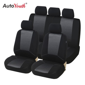 AUTOYOUTH Car Seat Covers Universal Fit Jacquard +Polyester Fabric Automobiles Seat Cover Interior Accessories Seat Protector