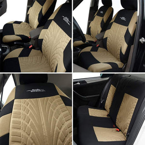 AUTOYOUTH Car Seat Cover Universal Full Set Of Car Safety Seat Protection Cover Tire Track Car Seat Accessories-9PCS Car Interio