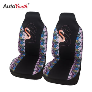 2PCS Car Seat Covers Car Bucket Seat Covers with Goose Print for Funda Asiento Coche for Peugeot 206 for Audi A3 8p