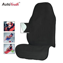 Load image into Gallery viewer, AUTOYOUTH Towel Car Seat Cover for Athletes Fitness Gym Running Beach Swimming Outdoor Water Sports Machine Washable - Black