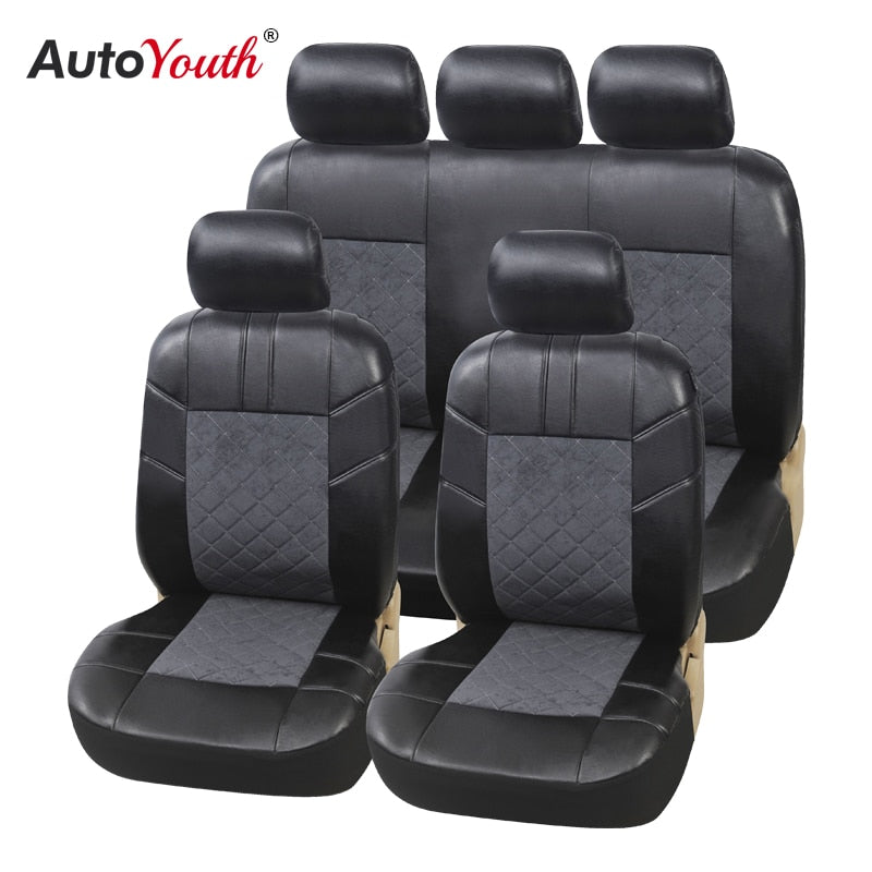 AUTOYOUTH luxury PU Leather Car Seat Covers For Most Car Protection Seats Auto Interior Accessories Covers for Seats