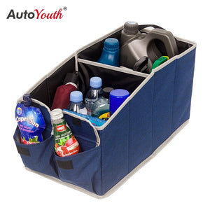 AUTOYOUTH Storage Box 600D Oxford Cloth Car Storage Box Luggage Foldable Multifunctional Storage Bag Cargo Container Bag