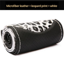 Load image into Gallery viewer, Leopard Style Steering Wheel Covers Soft Leather Fashion The Steering Wheel Cover Of Car Interior Accessories
