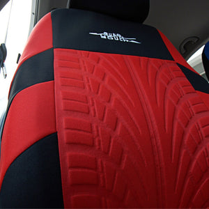 Car Seat Covers Red Russian Shipping Full Set