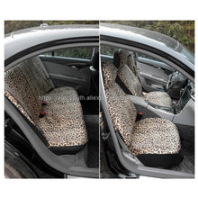 "Load image into Gallery viewer, AUTOYOUTH Luxury Leopard Print Car Seat Cover Universal Fit  Seat Belt Pads,and 15"" Universal Steering Wheel Car Seat Protector"