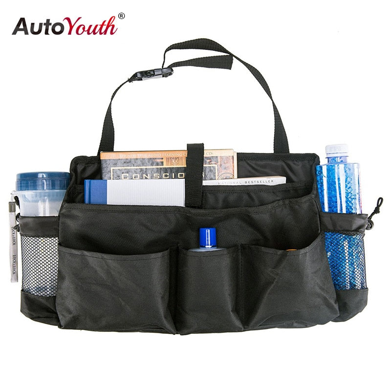 AUTOYOUTH Car Seat Organizer Back Storage Bag Adjustable Travel Box Pocket High Capacity Multi-use Oxford Interior Accessories