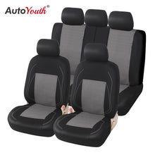 Load image into Gallery viewer, AUTOYOUTH Sports Car Seat Cover Universal Classic Seat Cover Seat Protector Car Styling Seat Covers Full Set for Toyota Black