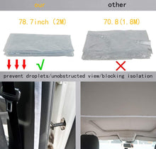 Load image into Gallery viewer, Car Taxi Isolation Film Plastic Anti-Fog Full Surround Protective Cover Net Cab Front and Rear Row PVC Film For car Cockpit