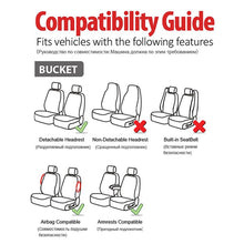 Load image into Gallery viewer, AUTOYOUTH 2PCSPU Leather + Fannel Car Seat Cover Airbag Compatible With Most Common Car Seat Car Interior