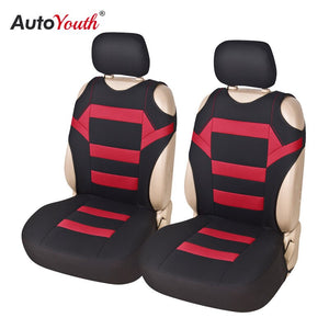 2 Pieces Set T Shirt Design Front Car Seat Cover Universal Fit Car Care Coves Seat Protector for Car Seats Polyester Fabric