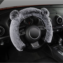 Load image into Gallery viewer, AUTOYOUTH Winter Steering Wheel Cover Plush Fur Cute Warm Long Wool Plush Car Steering Wheel Covers Universal 37-38 cm/15inch
