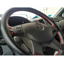 Load image into Gallery viewer, AUTOYOUTH DIY Car Steering Wheel Cover Genuine Cowhide Leather Steering Wheel Cover Universal 38cm Anti-slip Car-styling