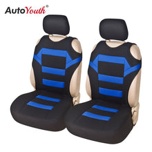 Load image into Gallery viewer, 2 Pieces Set T Shirt Design Front Car Seat Cover Universal Fit Car Care Coves Seat Protector for Car Seats Polyester Fabric
