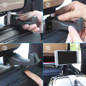 Vehicle Universal Car Headrest Hooks Organizer for Holding Phones and Hanging Handbags,Purses,Bags 1PCS