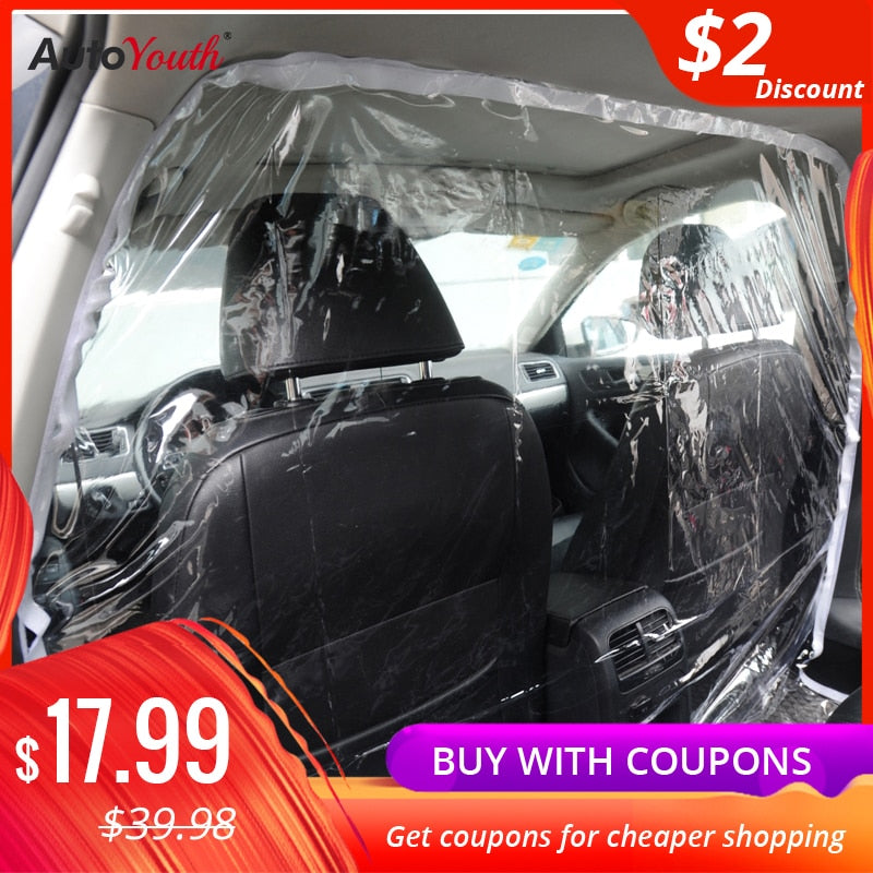 Car Taxi Isolation Film Plastic Anti-Fog Full Surround Protective Cover Net Cab Front and Rear Row PVC Film For car Cockpit