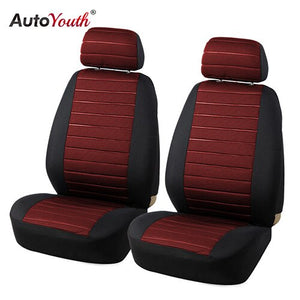 AUTOYOUTH 5MM Foam Van Seat Covers Airbag Compatible Hot 2PCS Car Seat Cover Universal Model Car-styling Interior Accessories