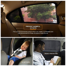 Load image into Gallery viewer, AUTOYOUTH (2 Pack) Side Window Sunshades For Car Windows - Sun, Glare And UV Rays Protection For Your Child Baby Side Window Car