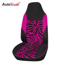 Load image into Gallery viewer, AUTOYOUTH Velvet Fabric Pink Zebra Car Seat Cover Universal Fits Most Car SUV Car Styling Interior Accessories Seat Cover
