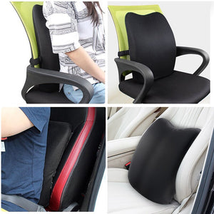 Lumbar Support Back Cushion,Back Pillow for Office Chair and Car Seat,Ergonomic Pillow Memory Foam Orthopedic Backrest for Couch