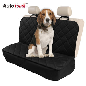 AUTOYOUTH Dog Nonslip Back Seat Cover with Anchors and Adjustable Pet Dog Car Seat Belt