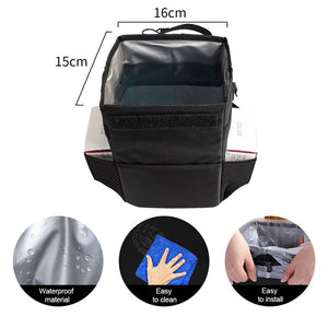 Car Trash Can Car Folding High Quality Car Trash Can Waterproof Liner Creative Trash Oxford Material, Washable and Durable Black
