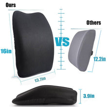Load image into Gallery viewer, Lumbar Support Back Cushion,Back Pillow for Office Chair and Car Seat,Ergonomic Pillow Memory Foam Orthopedic Backrest for Couch