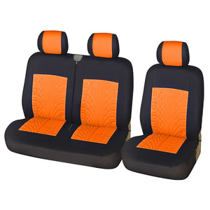 AUTOYOUTH New Car Seat Cover Polyester Fiber Tire Creasing Style 4 Colors Suitable 2+1 Car Seat Automotive interior