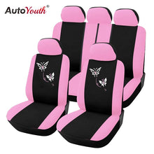 Load image into Gallery viewer, AUTOYOUTH New Arrival Pink Car Seat Covers Butterfly Embroidery Car-Styling Woman Seat Covers Automobiles Interior Accessories