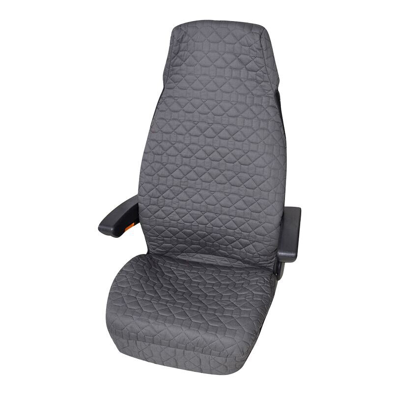 AOTOYOUTH Texture Pattern Car Seat Cushion Soft And Comfortable Fabric Car Seat Protection Seat Car Interior (Gray cushion)