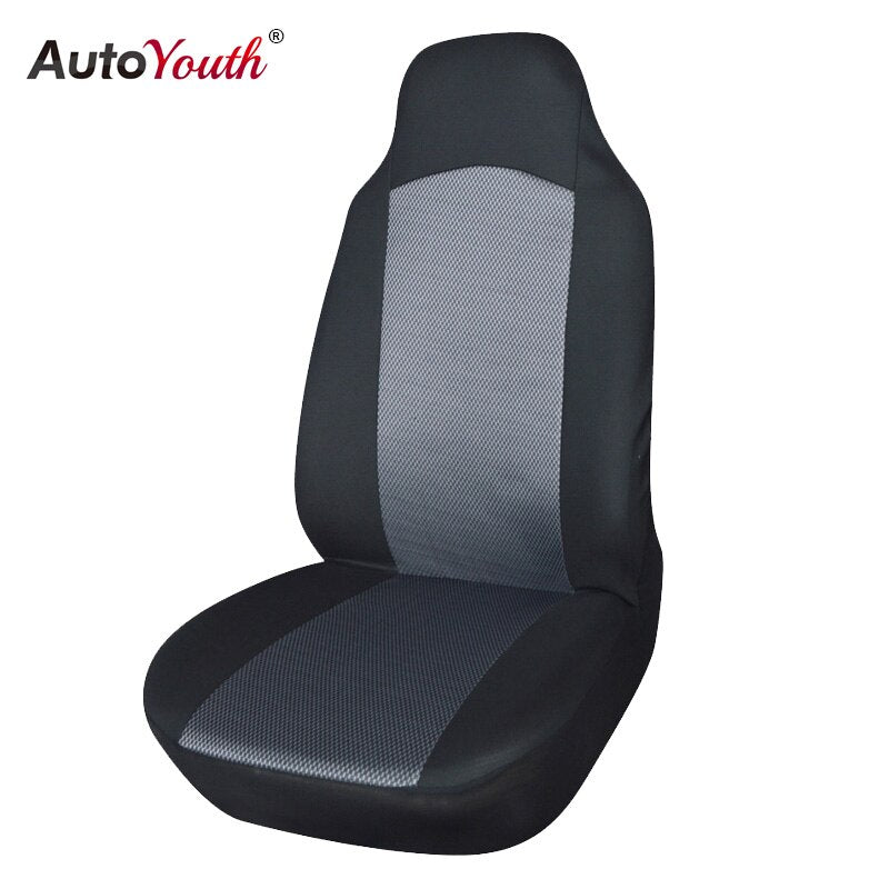 AUTOYOUTH Classic Front Car Seat Covers 2 PCS Black with Gray Universal Fit for lada Honda Toyota Most Auto Interior Car Styling