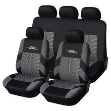 Load image into Gallery viewer, AUTOYOUTH 9PCS Car Seat Covers Set Universal Fit Most Car covers with Tire Track Detail Styling Car Seat Protector Four Seasons