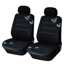 Load image into Gallery viewer, AUTOYOUTH Butterfly Embroidered Car Seat Cover Universal Fit Most Vehicles Seats Interior Accessories Black Seat Covers