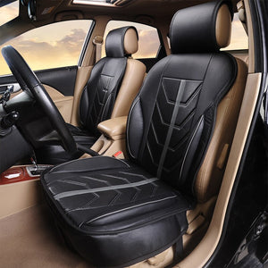 2020 New 1PCS/2PCS Car Seat Cushion PU Leather Car Seat Covers Universal Front seat Protector Cushion Fit Most Sedans Truck SUV